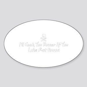 Rat Poison Oval Sticker